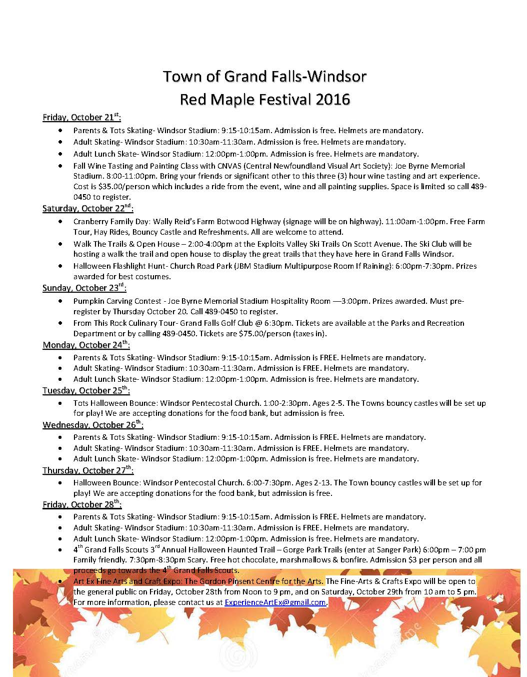 Red Maple Festival Poster